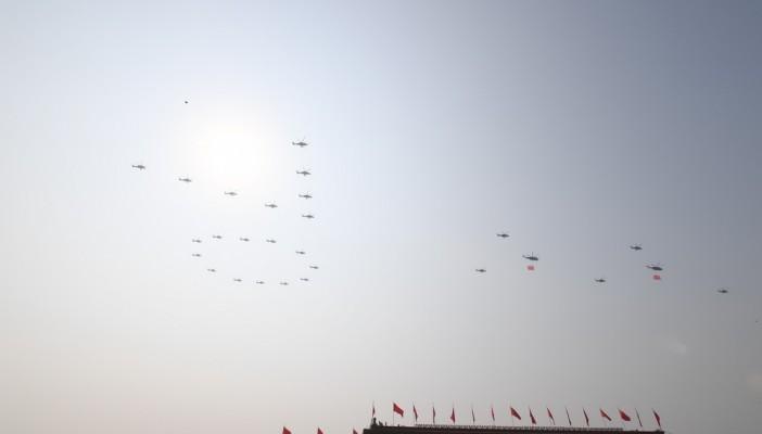 庆祝中华人民共和国成立70周年大会:空中护旗梯队