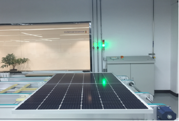 黄河水电公司成功研制出第一块三角焊带拼片组件