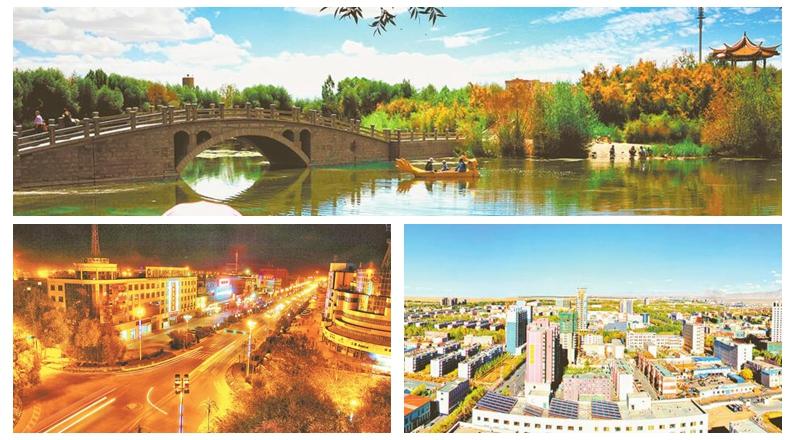 """梦圆""""瀚海明珠""""——戈壁新城建设剪影"""