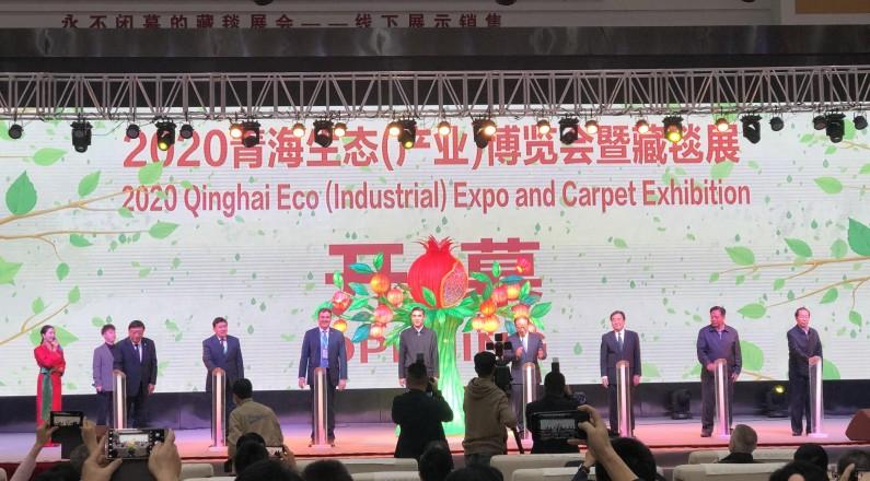 青海生态(产业)博览会暨藏毯展盛大启幕