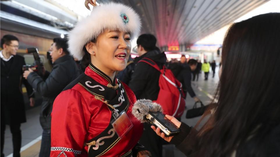 黑龙江代表团抵京